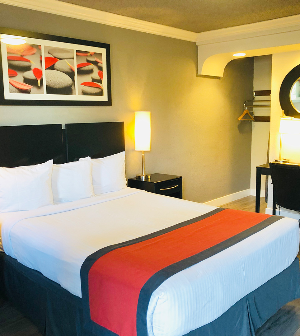 ENJOY YOUR STAY IN L.A.  WITH MODERN GUEST ROOMS AND AMENITIES AT AFFORDABLE PRICES.